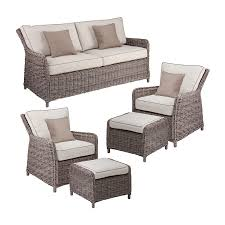 Conversation Sets Patio Furniture by Shop Boston Loft Furnishings Fiona 5 Piece Wicker Patio