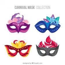 carnival masks set of carnival masks vector free