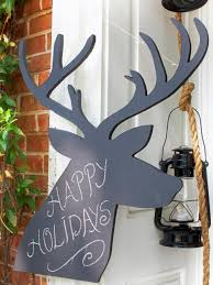 77 diy christmas decorating ideas reindeer silhouette