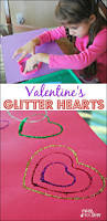 valentine ideas for kids glitter hearts mess for less