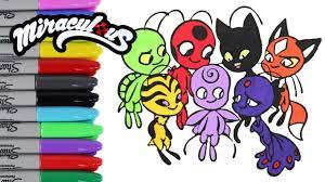 coloring pages miraculous ladybug kwami u0027s videos kids art plagg