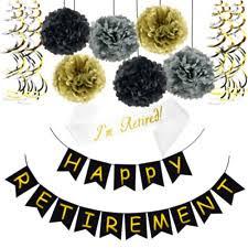 retirement party decorations paper retirement party decorations ebay
