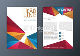 design flyer layout set of vector abstract brochure background triangle design flyer