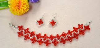 make necklace with beads images Diy red beaded jewelry sets collections of pendants how to make jpg