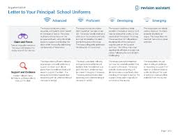 letter to your principal uniforms guides turnitin com