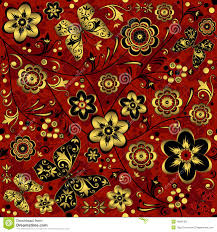 halloween background patterns red gold black seamless vintage pattern royalty free stock photo