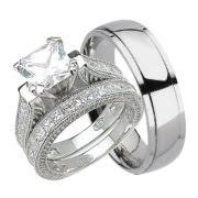 his and wedding bands his and hers wedding ring set matching trio wedding bands for him