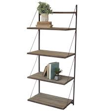 industrial wall shelving industrial modern cage wall shelf with hooks woodwaves