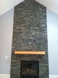 fireplace designs with brick stone accent wall and excerpt grey