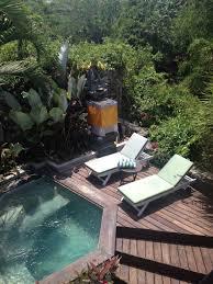 plunge pool viewed from balcony hidden villa bali