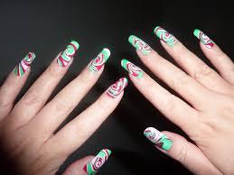 christmas xmas swirl spiral water marble nail art design l u2026 flickr