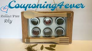 Diy Magnetic Spice Rack Dollar Tree Diy Farmhouse Magnetic Spice Rack Youtube