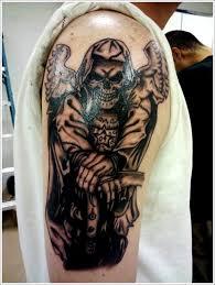 3d grim reaper leg sleeve tattoos for design idea