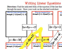 writing linear equations in slope intercept u0026 standard given 2 points