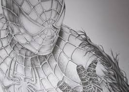 spiderman face pencil sketch drawn spider man realistic pencil