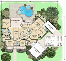 First Floor Master House Plans One Level Living With Outdoor Lounge 36396tx Architectural