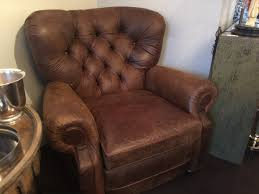 Restoration Hardware Recliner Restoration Hardware Leather Reclining Lounge Chair Two