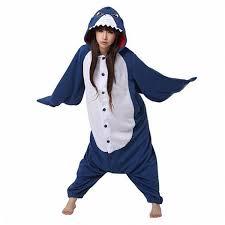blue jumpsuit costume amazon com fashionfits unisex blue shark flannel