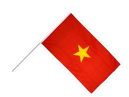 Spainish Flag Vietnam Hand Waving Flag 2 X 3 Ft Best Buy Flags Co Uk