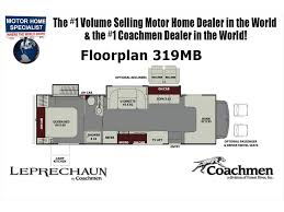 Rv Floor Plans Class C by 2018 Coachmen Leprechaun 319mb Rv For Sale Mhsrv Recliners