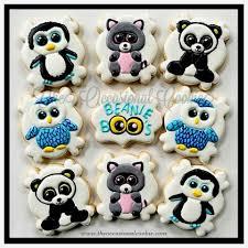 beanie boo cookies animal theme beanie boos
