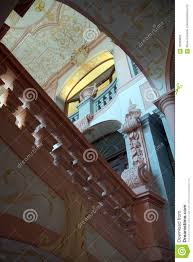 Baroque Ceiling by Nterior Staircase And Baroque Ceiling Stock Photo Image 78590826