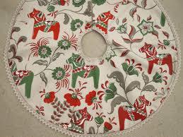 Swedish Decor by Swedish Christmas Tree Skirt Swedish Dala Horse Fabric Swedish