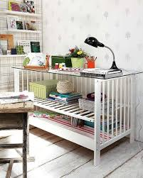 Diy Home Office Ideas Diy Home Office Furniture Ideas Upcycle Baby Cot Reuse Desk Glass