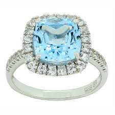 light blue sapphire ring jcpenney fine jewelry blue topaz lab created white sapphire sterling