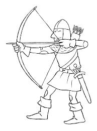een ridder met pijl en boog ridders en prinsessen pinterest met