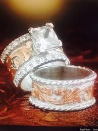 western wedding rings western wedding set fanning jewelry wedding rings