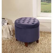 Purple Storage Ottoman Homepop Tufted 19 Storage Ottoman Purple Walmart