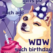 Geek Birthday Meme - sale happy birthday doge instant download from franceillustration