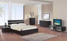 contemporary round bed with solid wood frame bedroom