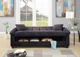 Convertible Sofa Beds F7888 Ebony Convertible Sofa Bed By Poundex