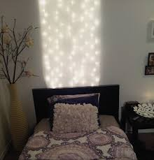 diy headboard under 10 1 pack of white christmas lights and