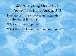 2 8 analyzing graphs of polynomial functions p ppt video online