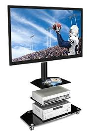 Monitor Pedestal Stand Mount It Mi 870 Tv Cart Mobile Tv Stand Wheeled Flat Screen