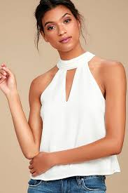 white sleeveless blouse white blouse sleeveless blouse tie neck blouse 42 00