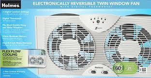 electrically reversible twin window fan amazon com holmes hawf2043 dual blade twin window fan with one