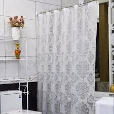 white and silver shower curtain home living room ideas