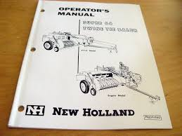 new holland super 66 hayliner hay baler operators manual book nh