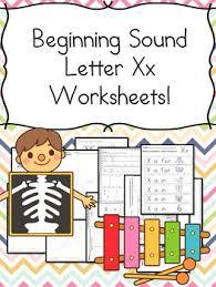 letter of the week letter x beginning letter sound worksheets