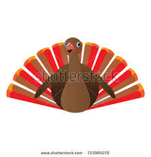 isolated turkey icon pilgrim hat thanksgiving stock vector