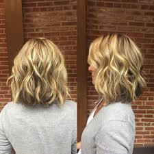 Long Blonde Wavy Hair Extensions by Blonde Wavy Long Bob With Short Layers Medium Length Wavy Layers
