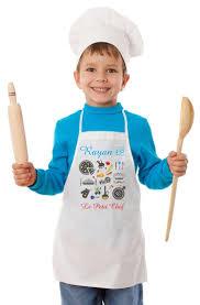 tablier de cuisine pour enfants personnalisable à votre choix