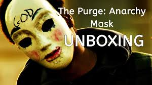all spirit halloween costumes the purge anarchy mask unboxing wearing on face spirit