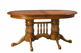 reeded oval double pedestal dining room table