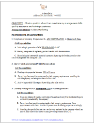Mba Marketing Resume Sample by Professional Curriculum Vitae Resume Template For All Job