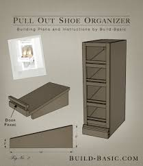 Shoe Cabinet Plans The Build Basic Custom Closet System U2013 Pull Out Shoe Organizer